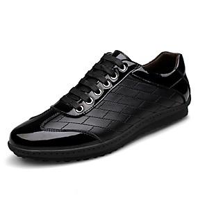 baratos Tênis Masculino-Homens Sapatos Confortáveis Pele Outono Tênis Preto / Ao ar livre