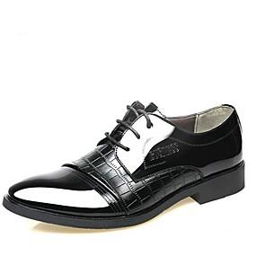 f49b6be15e baratos Oxfords Masculinos-Homens Sapatos Confortáveis Couro Envernizado  Outono Oxfords Preto   Marron   Ao