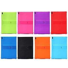 cheap Tablet Accessories-Case For Lenovo Tab 4 10 Plus / Tab 4 10 Shockproof / with Stand Back Cover Solid Colored Soft Silicone for Lenovo Tab 4 10 Plus / Lenovo Tab 4 10