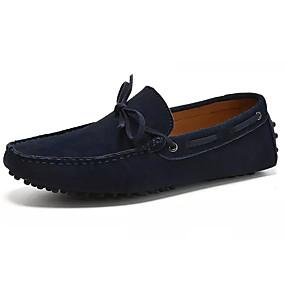 baratos Sapatos Náuticos Masculinos-Homens Mocassim Camurça / Pele Verão Sapatos de Barco Marron / Azul Escuro / Cinzento