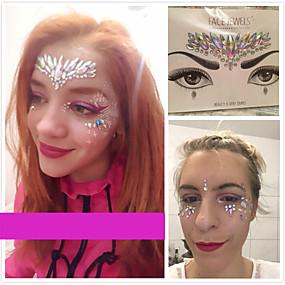 cheap Temporary Tattoos-face-painting-colors-face-temporary-tattoos-1-pcs-jewelry-series-crystal-body-arts-christmas-halloween-masquerade