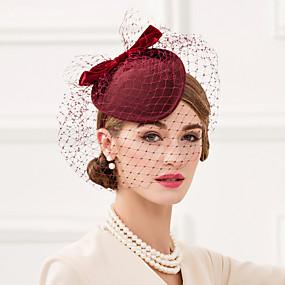 povoljno Kentucky Derby Hat-Til / 100% vuna Kentucky Derby Hat / kape s Mašnica 1pc Vjenčanje / Zabava / večer Glava