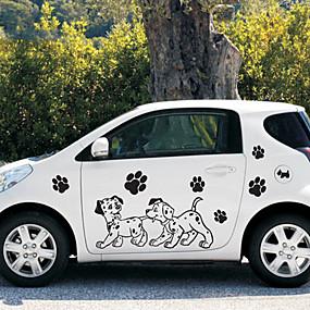 cheap Automotive Exterior Accessories-Black Car Stickers Cartoon Door Stickers Cartoon Stickers
