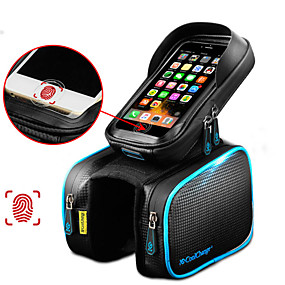cheap Bike Frame Bags-CoolChange Cell Phone Bag Bike Frame Bag Top Tube Top Tube Bag 6.2 inch Touch Screen Reflective Waterproof Cycling for Samsung Galaxy S6 iPhone 5C iPhone 4/4S Black Blue Yellow / Black Cycling / Bike