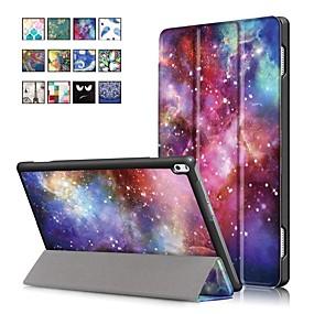 billige Andre tilfeller-Etui Til Lenovo Lenovo Tab 4 10 Plus / Lenovo Tab 4 10 med stativ / Magnetisk Heldekkende etui Oljemaleri Hard PU Leather