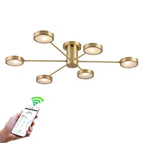 tanie Mocowanie przysufitowe-ZHISHU 6 świateł Sputnik / Nowość Podtynkowy Downlight Mosiądz Metal Kreatywne, Kontrola WIFI 110-120V / 220-240V Zawiera żarówkę / G4
