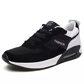 cheap Running Shoes-Men's PU(Polyurethane) / Elastic Fabric Summer Comfort Athletic Shoes Running Shoes Black / Black / White / Black / Red