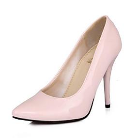 baratos Stilettos-Mulheres Saltos Salto Agulha Couro Envernizado Conforto Primavera Verde / Azul / Rosa claro / Diário