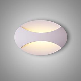 billige Vegglamper med LED-CONTRACTED LED® Matt / Nytt Design LED / Moderne Moderne Vegglamper Stue / Soverom / Leserom / Kontor Metall Vegglampe 110-120V / 220-240V 5 W / Integrert LED