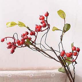 رخيصةأون Others-زهور اصطناعية 1 فرع كلاسيكي الحديث المعاصر النمط الرعوي فاكهة أزهار الطاولة