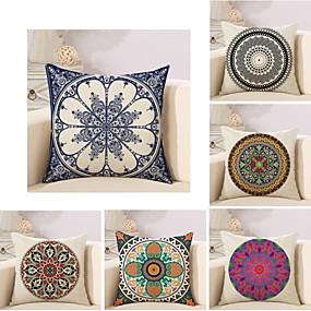 cheap Others-6 pcs Cotton / Linen Modern / Contemporary Pillow Case, Geometric Geometic Graphic Prints Geometric Boho