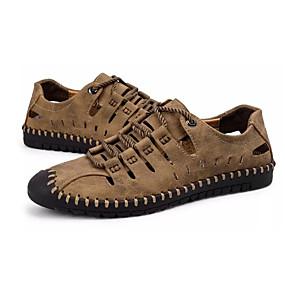 voordelige Wijdere maten schoenen-Heren Comfort schoenen Leer / PU Zomer Sandalen Zwart / Bruin / Khaki / ulko-