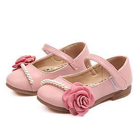 3ec55210c99f Girls  Shoes PU(Polyurethane) Spring   Fall   Spring   Summer Comfort   Flower  Girl Shoes Flats Walking Shoes Imitation Pearl   Flower   Magic Tape for  Kids ...