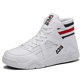 abordables Baskets pour Homme-Homme Chaussures de confort Toile Automne Décontracté Basket Preuve de l'usure Blanc / Noir