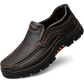 f412748ec1 Ανδρικά Δερμάτινα παπούτσια Δερμάτινο Φθινόπωρο Κλασσικό Μοκασίνια    Ευκολόφορετα Μη ολίσθηση Μαύρο   Καφέ   Τεχνητό διαμάντι