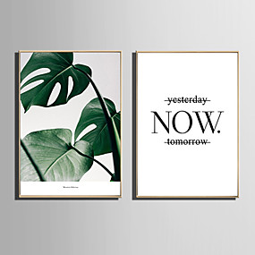 cheap Trending-Framed Canvas Framed Set - Botanical Floral / Botanical Plastic Illustration Wall Art