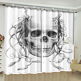 cheap Holiday Decorations-Modern 3D Curtains Two Panels Curtain / Blackout / Bedroom