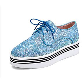 voordelige Damessneakers-Dames Comfort schoenen Synthetisch Zomer Sneakers Creepers Gesloten teen Donkerblauw / Lichtblauw