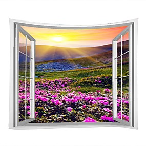 cheap Wall Tapestries-Landscape / Family Wall Decor 100% Polyester Modern Wall Art, Wall Tapestries Decoration