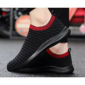 voordelige Damesinstappers & loafers-Dames Comfort schoenen Elastische stof Herfst Loafers & Slip-Ons Lage hak Zwart en Zilver / Zwart / Rood / Lichtblauw
