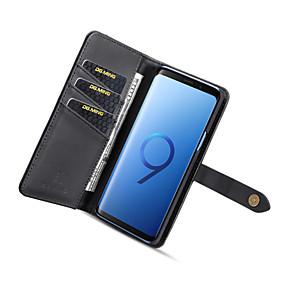 2067259930a MING Etui Til Samsung Galaxy S9 Pung / Kortholder / Med stativ Bagcover  Ensfarvet Hårdt PU Læder for S9