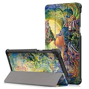cheap Tablet Accessories-Case For Lenovo Tab 7 Dustproof / Flip / Auto Sleep / Wake Up Full Body Cases Cartoon Hard PU Leather for Lenovo Tab 7