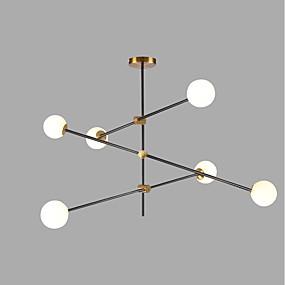 abordables Candelabros-6-luz Sputnik Lámparas Araña Luz Ambiente Dorado Acabados Pintados Metal Vidrio Creativo 110-120V / 220-240V / G9 / SAA