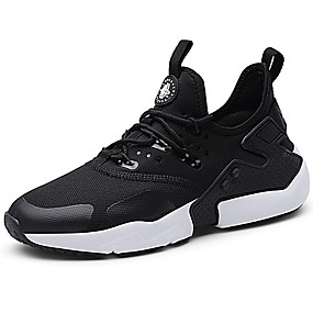 cheap Running Shoes-Men's Comfort Shoes Knit / Canvas Fall Sporty / Casual Athletic Shoes Running Shoes Massage White / Black
