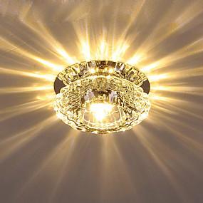 billige Krystall Lys-Krystall Takplafond Omgivelseslys galvanisert Krystall Krystall AC110-240V Varm Hvit / Kald Hvit