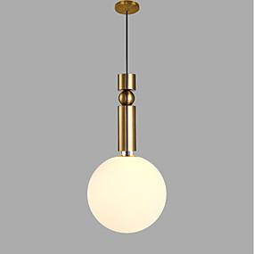 billige Hengelamper-Sirkelformet Anheng Lys Omgivelseslys Gylden Metall Glass AC100-240V Pære ikke Inkludert / SAA