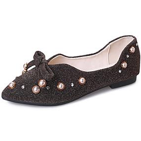 ecc9ac3883 Γυναικεία Παπούτσια άνεσης PU Φθινόπωρο Γλυκός Χωρίς Τακούνι Επίπεδο Τακούνι  Μυτερή Μύτη Φιόγκος Μαύρο   Καφέ