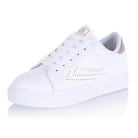 voordelige Damessneakers-Dames PU Lente Sneakers Platte hak Goud / Zwart / Roze