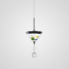 billige Tiffany Lamper-CONTRACTED LED Cone Anheng Lys Omgivelseslys galvanisert Metall Akryl Mini Stil, Søtt, Kreativ 110-120V / 220-240V