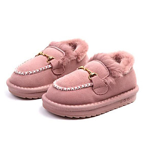 9cb5ec6614f Girls  Shoes Rabbit Fur   Cowhide Winter Snow Boots Boots for Kids   Toddler  Black   Pink   Khaki   Booties   Ankle Boots