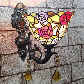 billige Tiffany Lamper-Kreativ / Smuk Tiffany / Retro / vintage Vegglamper / Baderomsbelysning Soverom / Innendørs Harpiks Vegglampe 110-120V / 220-240V 25 W