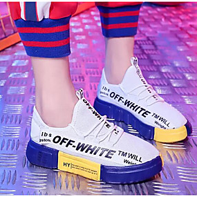 baratos Sapatos Esportivos Femininos-Mulheres Com Transparência Primavera & Outono Tênis Corrida Sem Salto Branco / Preto / Vermelho / Preto / Amarelo