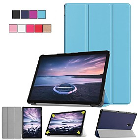 voordelige Tabletaccessoires-hoesje Voor Samsung Galaxy Tab S4 10.5 (2018) / Tab A2 10.5(2018) met standaard / Flip / Origami Volledig hoesje Effen Hard PU-nahka voor Tab S4 10.5 (2018) / Tab A2 10.5(2018)