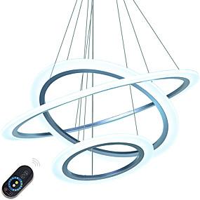billige Hengelamper-Anheng Lys Omgivelseslys Andre Metall Akryl Mulighet for demping, LED, Dimbar med fjernkontroll 110-120V / 220-240V LED lyskilde inkludert / Integrert LED