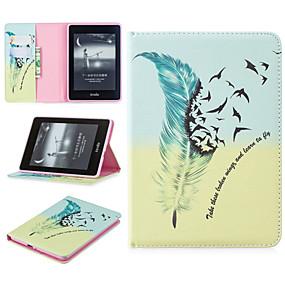 voordelige Ipad Hoes-hoesje Voor Apple iPad Pro 12.9 '' Kaarthouder / Schokbestendig Volledig hoesje Veren Hard PU-nahka voor iPad Pro 12.9''