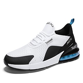 cheap Running Shoes-Men's Comfort Shoes Mesh Spring & Summer Sporty / Casual Athletic Shoes Running Shoes Breathable White / Black / Black / White