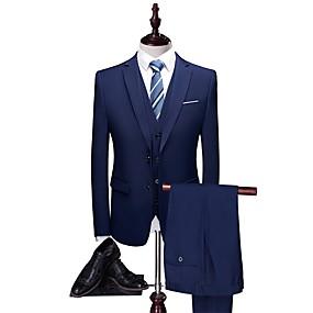 povoljno Maturalna odijela-Jednobojni Kroj po mjeri Poliester Odijelo - Stepenasti Droit 2 boutons / odijela
