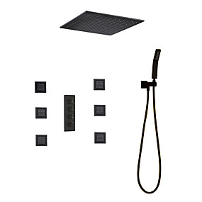 cheap Top Sellers-Shower Faucet - Contemporary Painting Shower System Ceramic Valve / Brass Bath Shower Mixer Taps