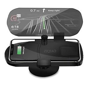 tanie Wyświetlacze samochodowe-Ziqiao uniwersalna bezprzewodowa ładowarka uchwyt do nawigacji wyświetlacz HUD głowy