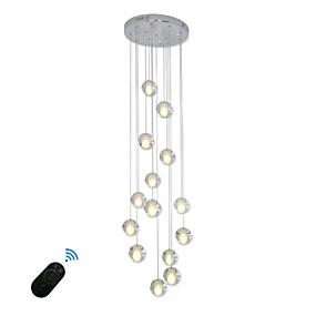 abordables Luces de Techo y Ventiladores-UMEI™ Cristal / Esfera Lámparas Araña Luz Ambiente Galvanizado Metal Cristal, Creativo, Ajustable 90-240V Blanco Cálido / Blanco / G4 / Regulable / FCC