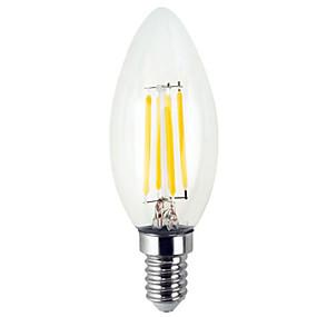 billige Stearinlyslamper med LED-YWXLIGHT® 1pc 4 W 300-400 lm E12 LED-lysestakepærer / LED-glødepærer C35 4 LED perler SMD Kreativ Varm hvit / Kjølig hvit 110-130 V