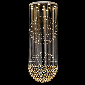 abordables Plafonniers-Lustre Lumière dirigée vers le bas Plaqué Métal Cristal, LED 110-120V / 220-240V Blanc Crème / Blanc Neige Ampoule incluse / GU10