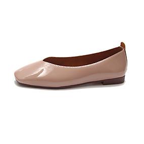povoljno Ženske cipele bez vezica-Žene PU Proljeće minimalizam Natikače i mokasinke Ravna potpetica Trg Toe Bež / Badem / Svjetlosmeđ