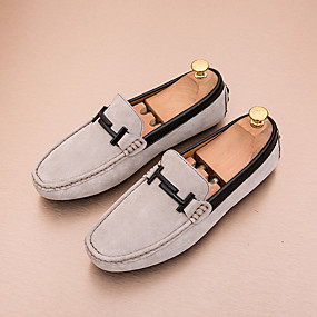 baratos Sapatos Náuticos Masculinos-Homens Mocassim Couro Ecológico Primavera Casual Sapatos de Barco Respirável Cinzento / Marron / Khaki