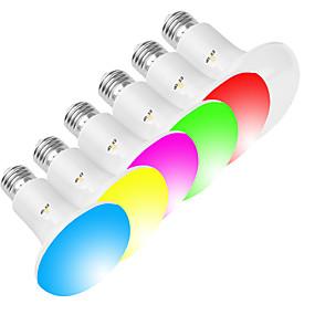 billige Globepærer med LED-exup 1pc 10w 800lm e26 / e27 ledbulb r80 / br30 wifi smart lyspære dimbar wake-up lights app kontroll kreativ rgbw led lampe kompatibel med alexa og google assistent ac 85-265v