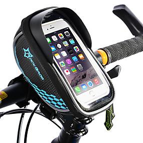 preiswerte Fahrradrahmentaschen-ROCKBROS Handy-Tasche Fahrradrahmentasche Fahrradlenkertasche Touchscreen Reflektierend Wasserdicht Fahrradtasche TPU EVA Polyester Tasche für das Rad Fahrradtasche iPhone X / iPhone XR / iPhone XS